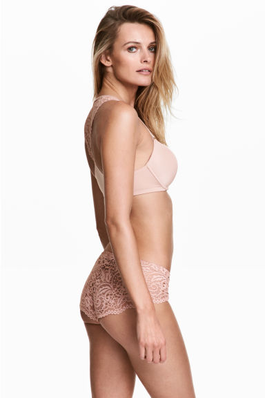 Lace hipster briefs - Powder pink - Ladies | H&M 1