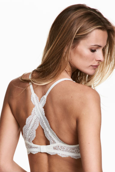 Lace push-up bra - White - Ladies | H&M 1