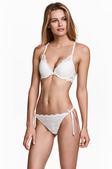 Bikini 蕾絲內褲 - White - Ladies | H&M 1