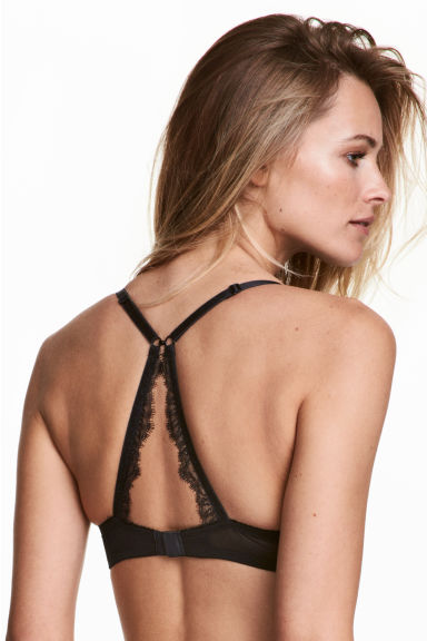 Lace balconette bra - Black - Ladies | H&M GB