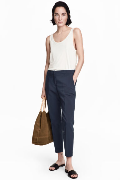 Suit trousers - Dark blue - Ladies | H&M CN 1