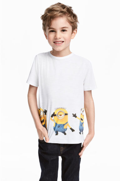 Printed T-shirt - White/Minions -  | H&M IE