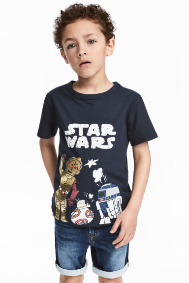 圖案T恤 - Dark blue/Star Wars - Kids | H&M