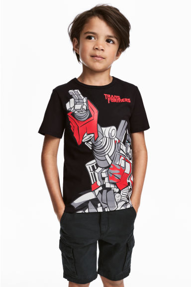 Printed T-shirt - Black/Transformers - Kids | H&M 1