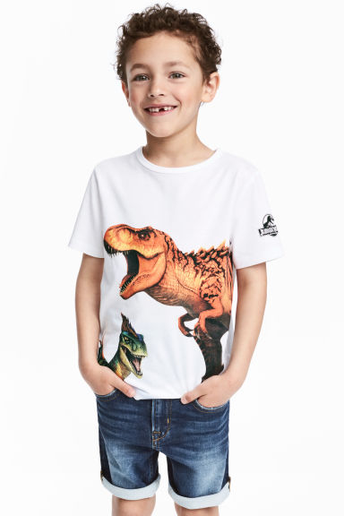 Printed T-shirt - White/Jurassic World -  | H&M