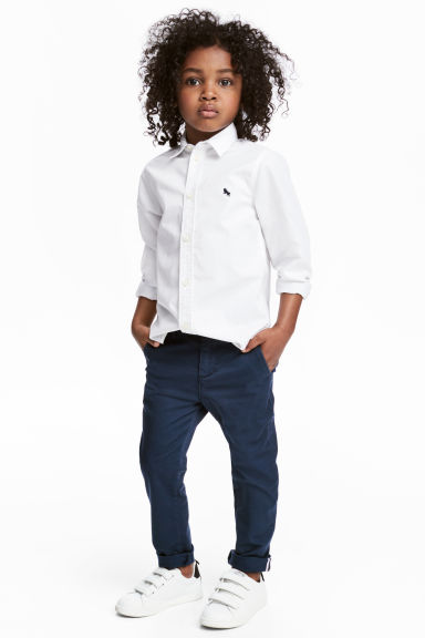 Slim fit Chinos - Dark blue - Kids | H&M 1
