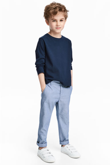 貼身卡其褲 - Blue/Chambray - Kids | H&M 1