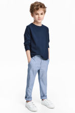 Chino - Slim fit - Blauw/chambray - KINDEREN | H&M BE 1