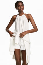 Crinkled top - White - Ladies | H&M 1