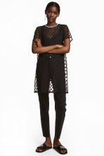 Mesh T-shirt dress - Black - Ladies | H&M 1