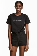 Tie top - Black/Text - Ladies | H&M CN 1