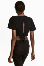 Cropped top - Black - Ladies | H&M 1