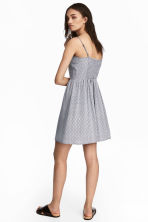 Short dress - White/Black patterned - Ladies | H&M CN 1
