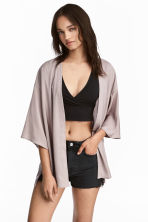 Satin cardigan - Mole - Ladies | H&M 1