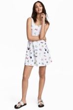 Jersey dress - White/Patterned - Ladies | H&M CN 1