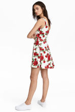 Jersey dress - White/Roses - Ladies | H&M CN 1