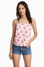 Viscose strappy top - Natural white/Floral - Ladies | H&M CN 1
