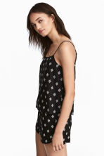Viscose strappy top - Black/Patterned - Ladies | H&M 1