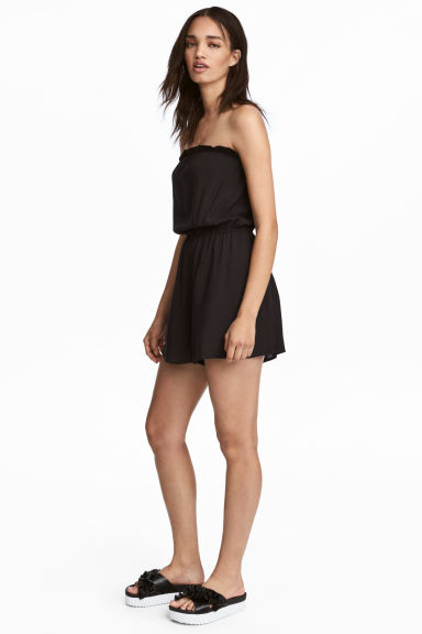 Strapless playsuit - Black - Ladies | H&M 1
