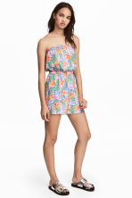 Strapless playsuit - Light pink/Patterned - Ladies | H&M 1