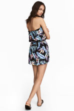 Strapless playsuit - Black/Leaf - Ladies | H&M 1