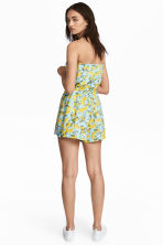 Strapless playsuit - Turquoise/Lemons - Ladies | H&M CN 1