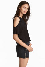 Cold shoulder top - Black - Ladies | H&M CN 1