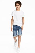 Denim shorts - Dark denim blue - Kids | H&M CN 1