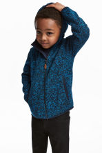 Knitted fleece jacket - Blue marl - Kids | H&M 1