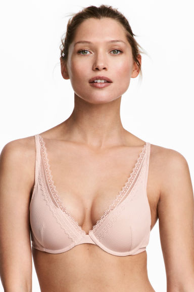 Push-up beha van microvezel - Poederroze - DAMES | H&M BE 1