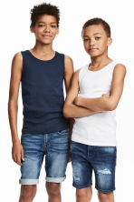 2-pack vest tops - Dark blue - Kids | H&M CA 1