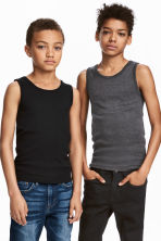 2-pack vest tops - Black - Kids | H&M 1