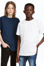 Set van 2 T-shirts - Donkerblauw -  | H&M BE 1