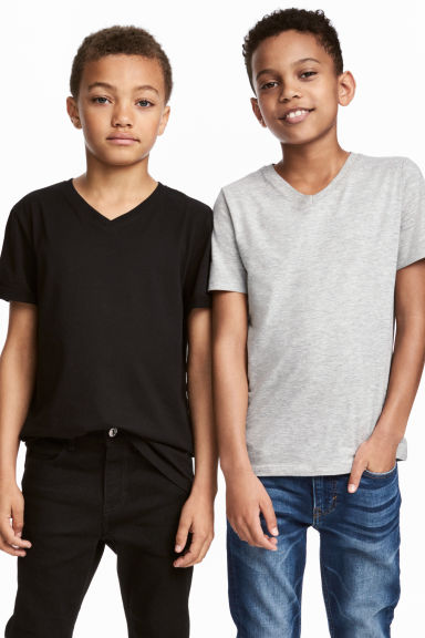 2-pack T-shirts - Black -  | H&M CA 1