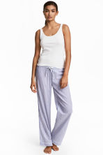 Cotton pyjama bottoms - Blue/White/Striped - Ladies | H&M CN 1