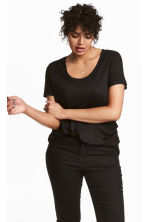 H&M+ Jersey top - Black - Ladies | H&M 1