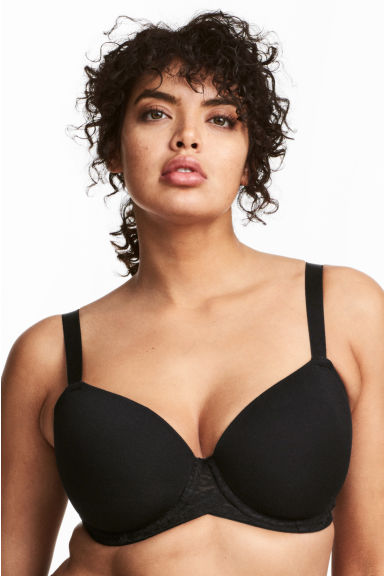2-pack padded bras DD/E cup - Sand/Black - Ladies | H&M CA 1