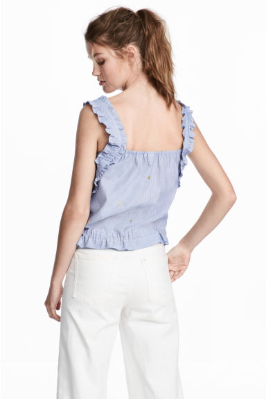 Drawstring top - Blue/White/Striped - Ladies | H&M 1