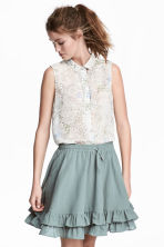 Sleeveless blouse - Natural white/Floral - Ladies | H&M CN 1