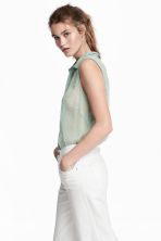 Sleeveless blouse - Mint green - Ladies | H&M IE 1