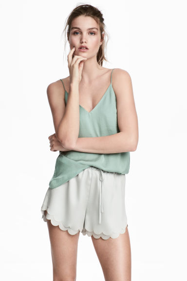 V-neck top - Mint green - Ladies | H&M 1
