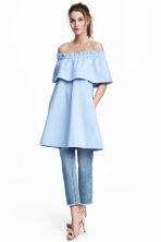 Off-the-shoulder dress - Light blue - Ladies | H&M 1