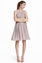 Pleated chiffon dress - Dusky purple - Ladies | H&M CN 1