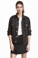 Gonna in denim - Denim nero - DONNA | H&M IT 1