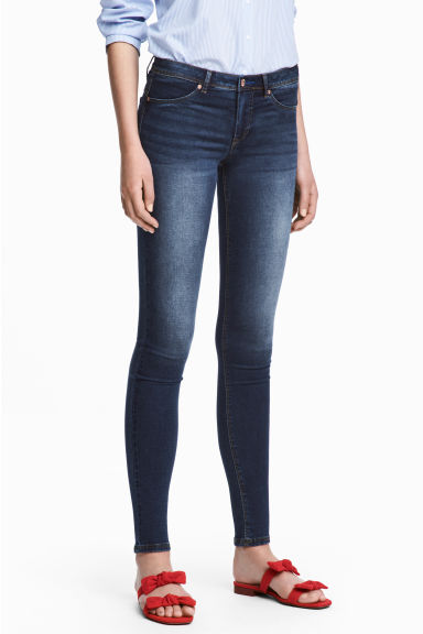 Feather Soft Low Jeggings - Blu denim scuro/lavato - DONNA | H&M IT 1