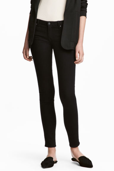 Super Skinny Low Jeans - Black denim - Ladies | H&M GB 1