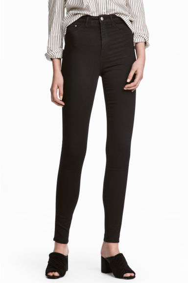 Super Skinny High Jeggings - Negro washed out - MUJER | H&M ES 1