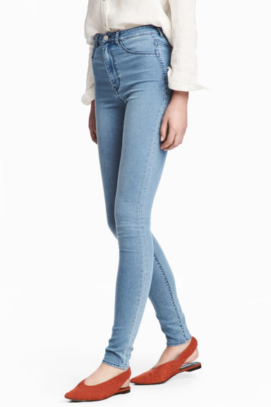 Super Skinny High Jeggings - Light denim blue - Ladies | H&M