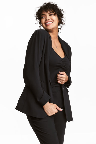H&M+ Single-breasted Jacket - Black - Ladies | H&M CA