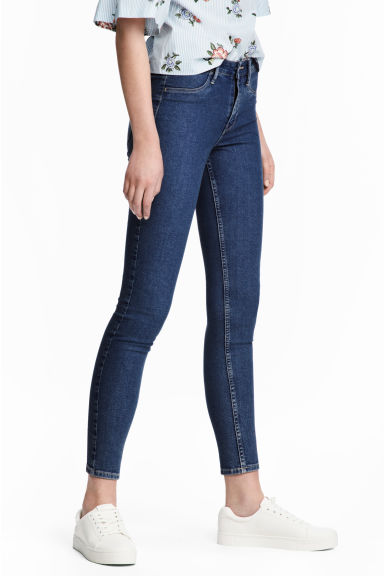Skinny Regular Ankle Jeans - Denim blue - Ladies | H&M CN 1